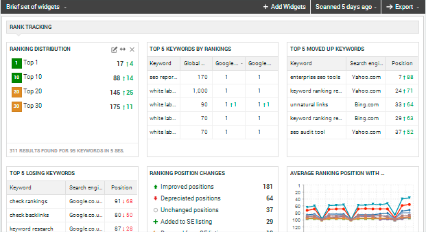 Tampa SEO Services Expert Dashboard